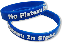 PW-603C Embossed & Color Filled-In Silicone Wristbands