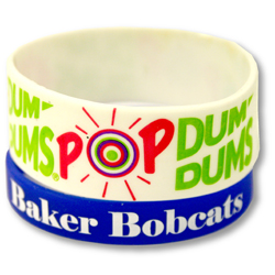 PW-601 Screen Printed Silicone Wristbands