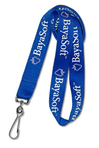 "3/4"" Wide - Economy Flat Polyester Screen-Printed Lanyard"