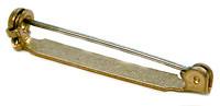 """Brass Bar Pin, 1.5"""""""