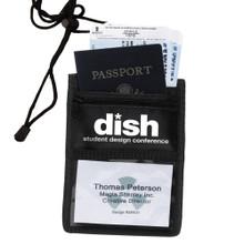 Custom-Printed Tradeshow Badge Holder/Travel Mate