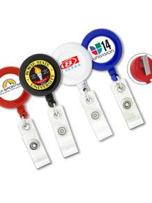 Round Badge Reel w/ Swivel Clip - Full Color Print