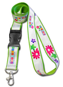 "Dye-Sublimated Full-Color Double-Layered Lanyards - 1"" Wide"