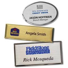 "Name Tags - Executive Metal w/ Personalization (1""x3"")"