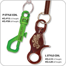 """Casino Coiled Lanyards - P style - 12"""""""