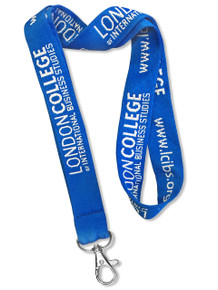 """Extra Wide 1"""" Double-Sided Woven-In Custom Lanyard (Embroidered)"""