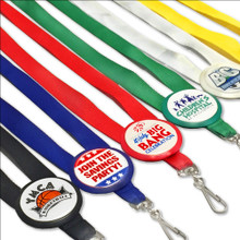 Full Color Printed Badge Lanyard Button with Plain Lanyard