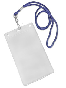 """Round Lanyards with Swivel J-Hook & Vertical Badge Holders 5.75""""x3.75"""" Combo Set"""