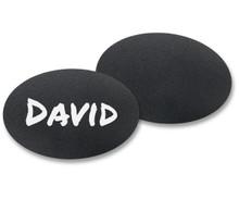 "Chalkboard Reusable Name Tags - Oval Shaped (1-3/4""X2-1/2"")"