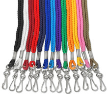 "1/4"" Round Lanyard with Swivel Hook"