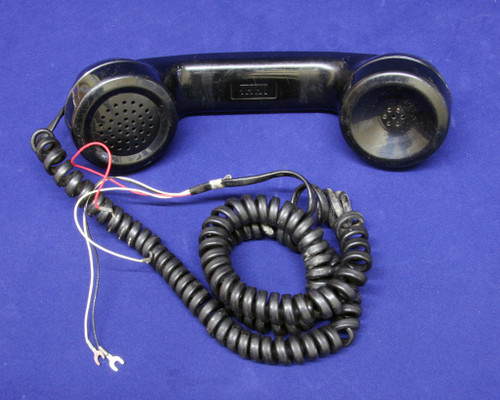 """G3 Handset with spade tip cord, offered as new, """"gently used"""" and """"as is.""""  We also have modular handsets and other colors, please contact us if you need something else.  Sample shown is """"gently used."""""""