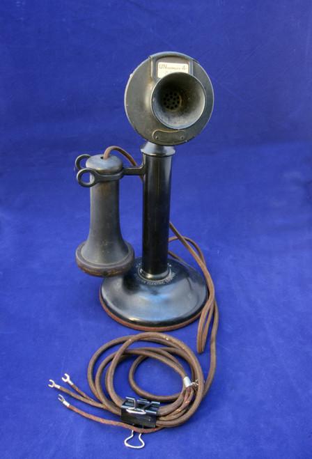 classic manual candlestick desk set with pole type ear piece