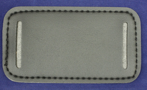 Leather head band pad - this side faces up and slips over the wire bale