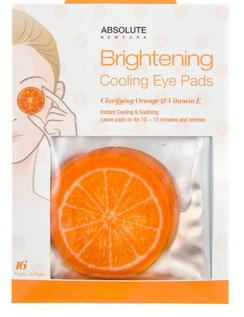 Brightening Cooling Eye Pads Great gift or stocking stuffer! Start stashing those special gifts now! Clarifying orange and Vitamin E Instant cooling and soothing that relaxes and brightens tires ans stressed skin. Leave pads on for 10- 15 min. ans remove