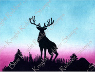 Silhouette Stag