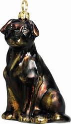 Chocolate Labrador Dog - Joy To The World Ornament