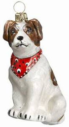 Jack Russell Terrier with Bandana Dog - Joy To The World Ornament