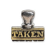 Waxing Poetic 'Taken' Stamp Charm