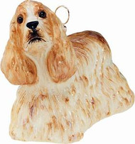 Cocker Spaniel Blond Dog - Joy To The World Ornament