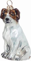 Jack Russell Terrier Sitting Dog - Joy To The World Ornament