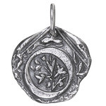 Waxing Poetic Sterling Silver Square Insignia Charm 'O'