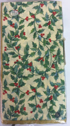 Ideal Home Range Cream Holly Garland Paper Guest Towels