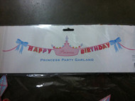 Glitterville 'Princess' Crown Happy Birthday Banner