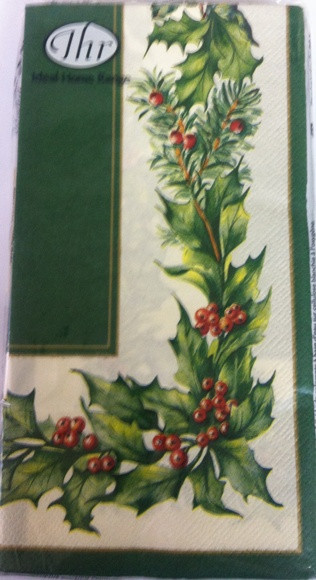 Ideal Home Range Green Christmas Garland Paper Guest Towels