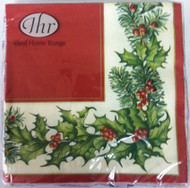 Ideal Home Range Red Christmas Garland Paper Napkins