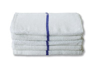 Premium Blue Stripe Bar Mop / Terry Towel 10 Pack