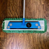 Fred's Microfiber Dust Mop Head Top View Shown on Fred's Microfiber Mop Handle