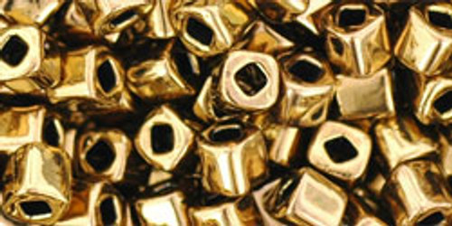 Toho Seed Beads Cubes 4mm Antique Bronze
