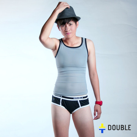 Pullover chest binder gray