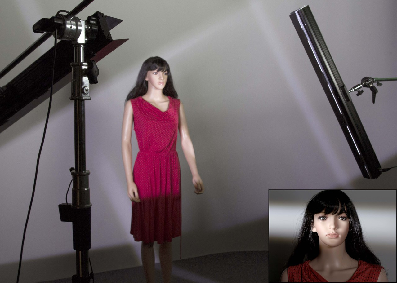 Bladelight Studio Shoot - the first LED light offering full control, and cutting like a Fresnel
