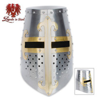 Crusader Helmet with Brass Fittings