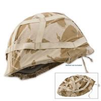British Military Surplus Used Helmet Cover Desert Camo
