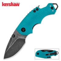 Kershaw BlackWash Shuffle Teal Folding Pocket Knife