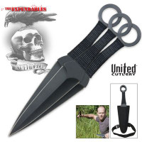 Expendables Kunai 3 Piece Throwing Knife Set UC2772