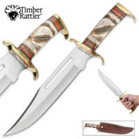 Timber Rattler Southwestern Hunter Bowie Knife