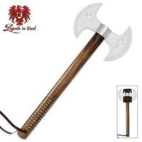 Legends In Steel Double Blade Crusader Tomahawk UC3059