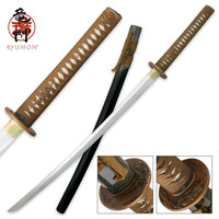 Hand Forged Ryumon Carbon Steel Samurai Katana Sword With Scabbard