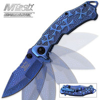 Reptilian Ti Treated Blue Assisted Opening Folding Pocket Knife