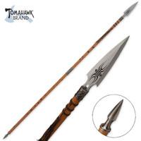 African Wooden Warrior Spear