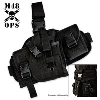 M48 Gear Assembled Drop Leg Gun Holster Black
