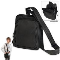 Gun ToteN Mamas Concealed Carry Microfiber Raven Shoulder Bag