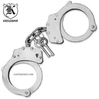 Police Handcuffs Double Locking Chrome Finish