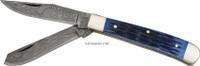 """4"""" DAMASCUS TRAPPER KNIFE DM-1021"""