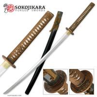 Sokojikara Hand Forged Carbon Steel Samurai Katana Sword With Scabbard SJ008