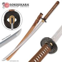 Sokojikara Clay Tempered T10 Steel Bamboo Katana Sword SJ001