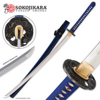 Sokojikara Clay Tempered T10 Steel Royal Blue Katana Sword SJ002